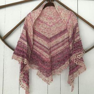 Hand made PINK boho festival shawl/wrap